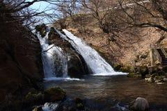 Водопад потока горы в Oita, Японии Стоковое фото RF