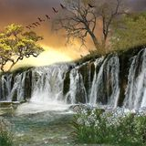 водопад предпосылки Стоковые Изображения RF