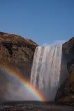 водопад радуги Исландии Стоковая Фотография