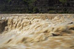 Водопад Рекы Хуанхэ Хьюго Китая, стоковое фото rf
