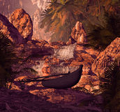 водопад силуэта аутриггера бесплатная иллюстрация