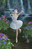 водопад сини балерины иллюстрация штока