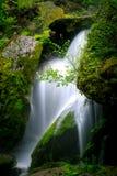 Водопад с горами в стране Шри-Ланка стоковые изображения