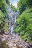 водопад 3-шага безыменный Около Сочи, Россия Стоковое фото RF