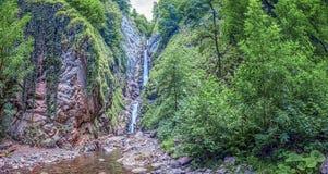 водопад 3-шага безыменный Около Сочи, Россия Стоковое Изображение RF