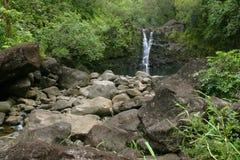 водопад 2 Гавайские островы Стоковые Фото