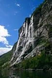 водопад 7 сестер стоковое фото rf