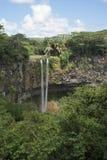 Водопад Chamarel на реке du Крышке стоковые изображения rf