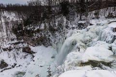 Водопад - Chittenango падает парк штата - Cazenovia, Нью-Йорк Стоковое фото RF