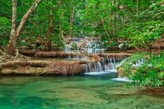 Водопад Erawan в Таиланде стоковое фото rf