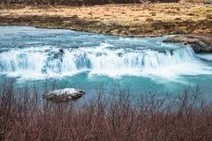 Водопад Faxi или водопад faxafoss в Исландии Стоковое Изображение