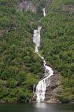 водопад geirangerfjord Стоковые Фото