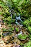 Водопад Gertelsbach, Германии пока пеший туризм стоковые фотографии rf