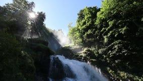 Водопад Giessbach, Bernese Oberland, Швейцария видеоматериал