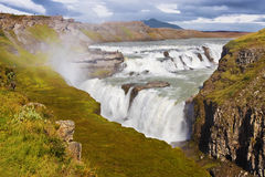 водопад gullfoss Стоковая Фотография RF