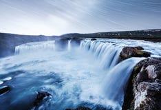 Водопад Hodafoss очень красивый исландский Оно расположено в северном близко озере Myvatn и кольцевой дороге сказово стоковое фото rf