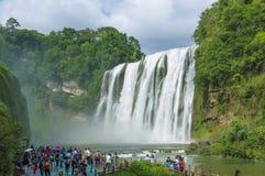водопад Huangguoshu перемещения в Гуйчжоу Стоковая Фотография RF