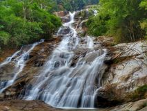 Водопад Lata Kinjang, Tapah стоковые фотографии rf