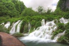 водопад plitvice Стоковые Фото
