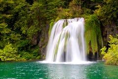 водопад plitvice стоковое изображение rf