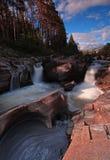 водопад scotish гористых местностей Стоковые Фото