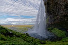 Водопад Seljalandsfoss Стоковая Фотография RF