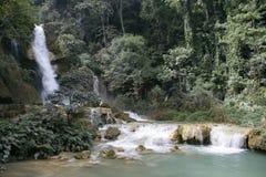 водопад si kuoang стоковое фото rf