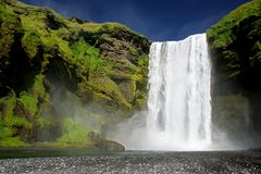 водопад skogarfoss Стоковые Фотографии RF