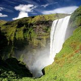 водопад skogarfoss Стоковая Фотография RF