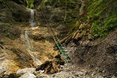 водопад slovak рая горы Стоковое Изображение RF