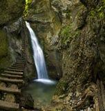 водопад slovak рая горы стоковые фото