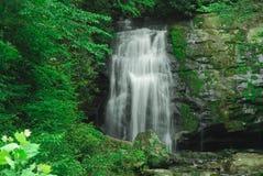 водопад smokey горы стоковое изображение rf