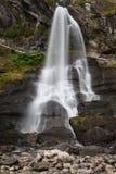 Водопад Steinsdalsfossen около Norheimsund Стоковое Фото