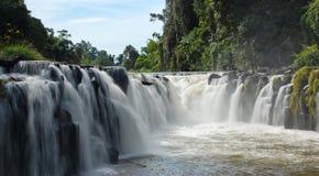 водопад tad suam PA Лаоса южный Стоковые Фотографии RF