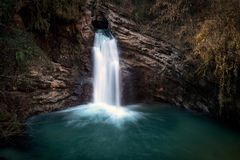 Водопад Trevi, Италия Водопад Стоковое Фото