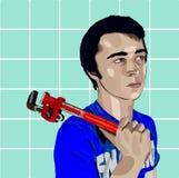 водопроводчик хлопца Стоковая Фотография RF