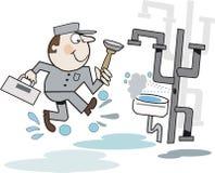 водопроводчик шаржа Стоковое Изображение