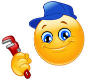 водопроводчик emoticon иллюстрация штока