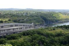 Водосброс запруды Magat гидро электрической в гористом Ifugao стоковые фото