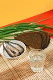 водочка закусок русская традиционная Стоковое Изображение