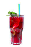 водочка красного цвета сока коктеила вишни Стоковое Изображение