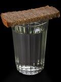 водочка стекла еды хлеба Стоковое Изображение