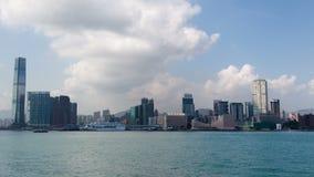 Водяной канал Гонконг дня промежутка времени Лоток вверх сток-видео
