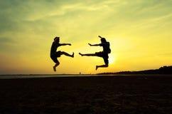 Воевать врага около пляжа Стоковое фото RF
