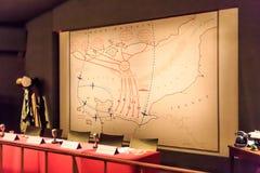 Военная комната от Второй Мировой Войны Стоковая Фотография