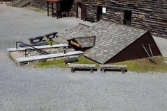 Военная крипта на форте стоковая фотография rf