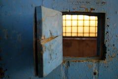Военная тюрьма двери бывшая Стоковая Фотография RF