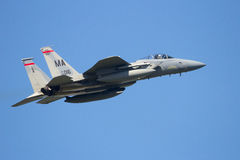 Военновоздушная сила США F-15 принимает  Стоковые Изображения RF