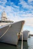 3 военного корабля Стоковое Фото