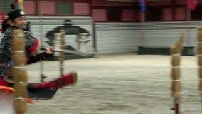 военное искусств корейское Ратники Hvarang Продемонстрируйте swordsman искусства видеоматериал